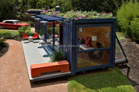 movable houses luxury prefab steel container villa for sale