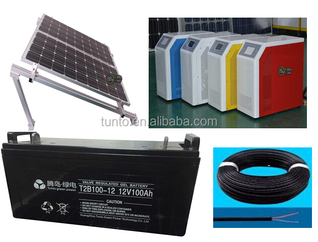 1KW to 100KW home wind solar hybrid power system price with battery