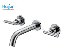 Two Handles Wall Mounted Prefab homes bath Shower mixer Taps
