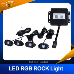 2016 New Arrival 9W RGB Led Rock Lights Waterproof Off Road LED Rock Light Kit - 8 Pods LED Rock Lights For Off Road
