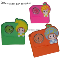 2014 newest cute fruit baby silicone pen holder container from China