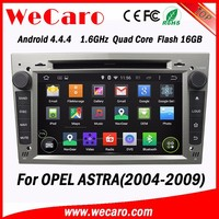 WECARO High Performance Navigation Pure Android 4.4.4 Car Gps Dvd Player for Opel Astra h 2004 - 2009