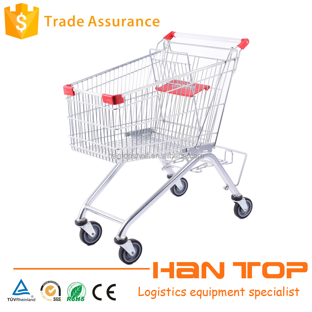 Metal supermarket shopping cart with beer crate holder HAN-E125 497