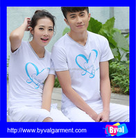 100%cotton unisex's clothing wholesale casual printed t shirt breathable unisex's sport clothing