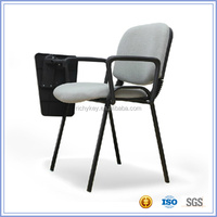 Conference Fabric Upholstered Writing Chair with Tablet Arm