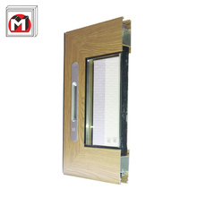 Building material custom made wood color aluminium extrusion profile for making sliding windows