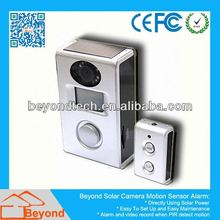 Digital Table Clock Camera Solar Camera Alarm With Video Record and Solar Panel