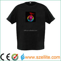 led display t-shirt/ el flashing t-shirt in led display