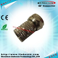 F plug RG6 compression electric plug waterproof male female connectors