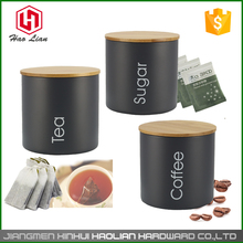bamboo lid design 304 ss canisters storage unique conisters 800ml cookie jar set tea bag home goods canister