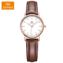 2018 japan movement watch genuine leather band for women