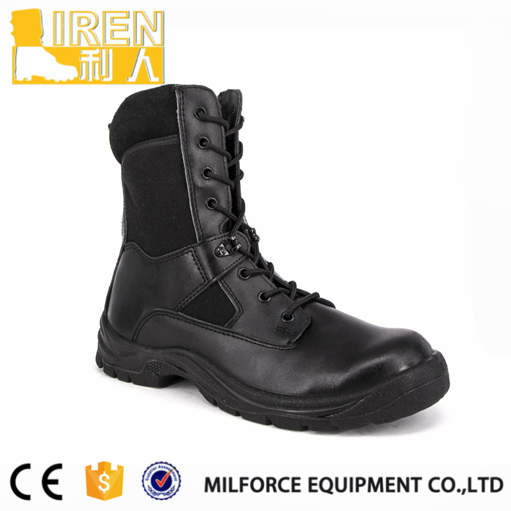 Men's low cut leather rubber outsole army jungle boots