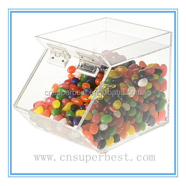 Customized clear acrylic candy display case
