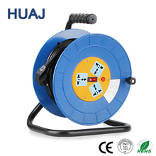 High Quality 4 Socket Retractable Power Cord Electric Wire Reel