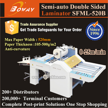 520mm Semi Automatic Two Sided Film Heating Roll laminator machine paper