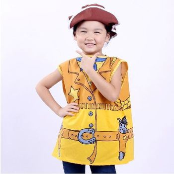 7000957-Cool Kids Performance Clothes Cosplay Costumes Cowboy Clothing For Halloween