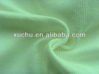 Plain Dyed 100% Cotton t-shirt fabric 2x2 rib knit fabric