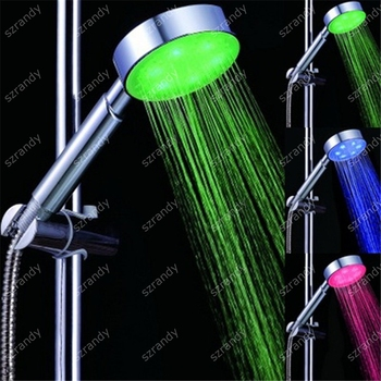 temperature sensor 3 colors led shower head with color changing LD8008-A2