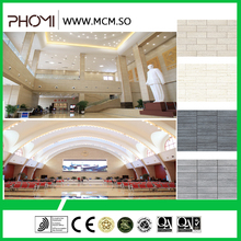Stone type flexible antiskid waterproof breathability durability modified clay material white travertine tile