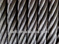 line contacted and ungalvanized steel wire rope 6*36WS, 6*19S, 8*19S