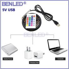 Latest USB Powered Controlled LED <strong>RGB</strong> 5050 5V Strip Light