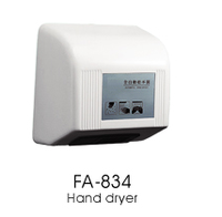 FUAO auto infrared sensor battery operated hand dryer