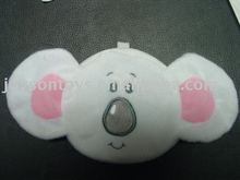 mouse head shaped stuffed plush animal toy