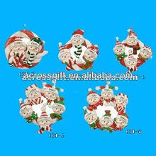 2012 hanging ornament resin christmas craft
