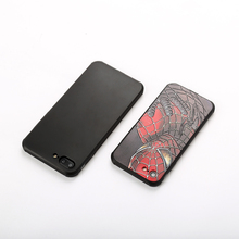 3D Reliefs Painting Style Anti-fingerprint Cover Phone Case for Huawei honor 9