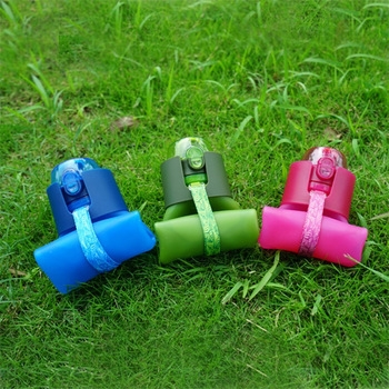 Wholesale Bpa Free Sports Drink Bottle Collapsible Silicone Foldable Water Bottle