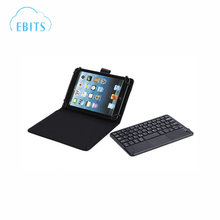 "7"" PU Leather Micro USB Keyboard Case With Buttons Stand Cover for Tablet (Black)"