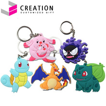 Factory Price 3D Quality Rubber PVC pokemon keychain Custom Design for Promotion Gifts