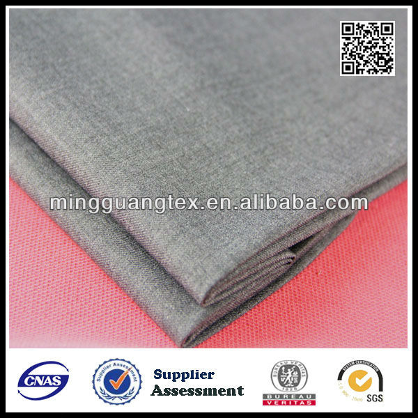 TR TWILL70/30 WOOL TOUCH MELANGE GREY SUITING FABRIC FOR WEDDING DRESS