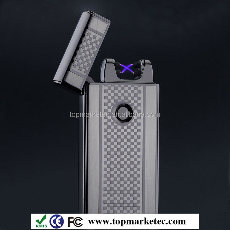 new technology Electric arc lighter Cigarette lighter Electric pulse lighter Customized USB lighter without oil