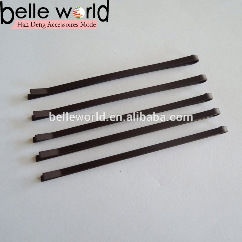 New 7cm Brown Frosted Plain Bobby Pins