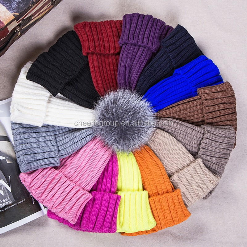 2016 Hot new products colorful stylish knitted beanie hat custom