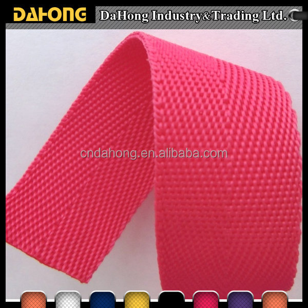 Oeko-tex-4 hot selling 22mm colorful cheap pp belt webbing tape