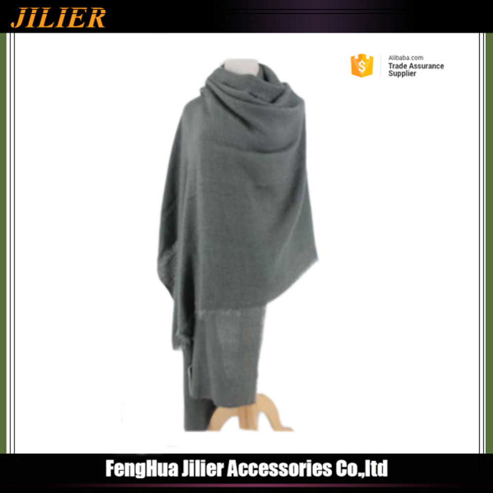 2016 winter oversize 100% acrylic pashmina scarf shawl women knit scarf cloak cape wholesale