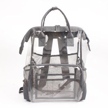Heavy Duty Clear PVC Backpack Durable Transparent School Book Bag