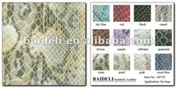 snake patterned vinyl fabric for Bags with high quality