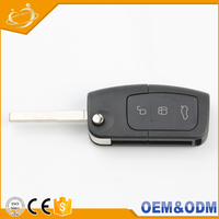 Best Sales ABS Plastic 3 Bottons Lock Flip Fold Car Remote Key For Ford