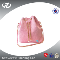 Latest fashion PU leather single strap shoulder bags/popular bucket bags