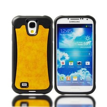 hot selling skin hybrid mobile phone case for Samsung Galaxy S4,leather pu back cover for Samsung Galaxy S4 I9500