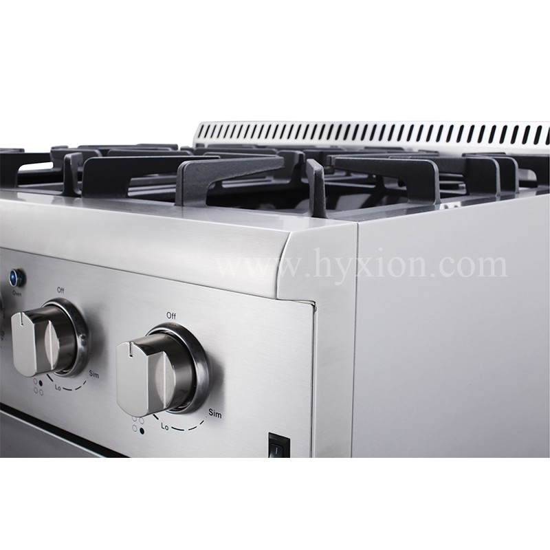 High end cooking gas stove with blue porcelain oven