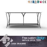 Classical tempered glass outdoor tv stand