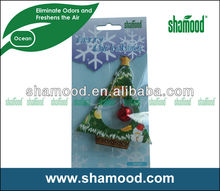 Little Tree Hanging Paper Car Air Freshener With Ocean Fragrance