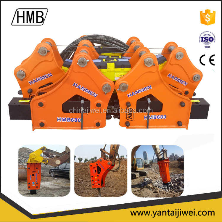 Professional excavator mounted vibro hammer hydraulic breaker manufacturer