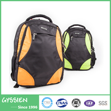 New Arrival Anti-Thief Green Orange Energetic Couple Sports Backpack