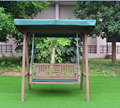 wooden garden swing chair