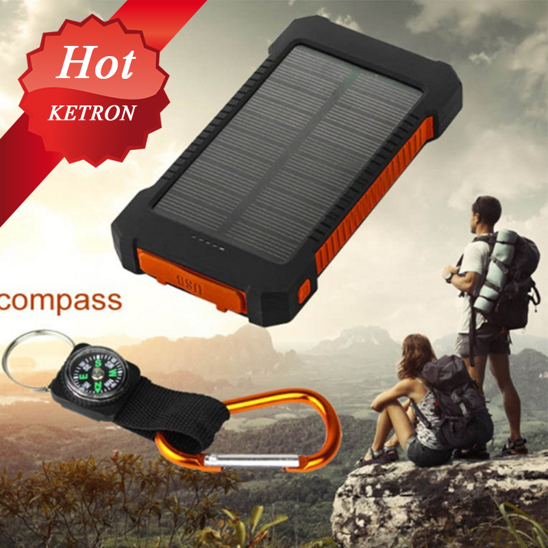 Solar Panel solar power bank 20000 Waterproof solar backup battery